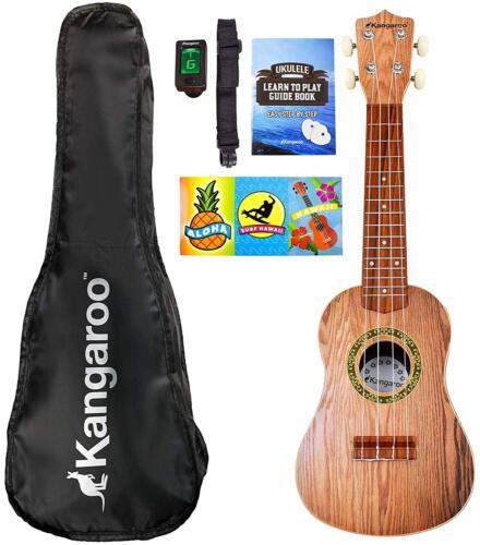 "22.5"" Ukulele Kit Musical Hawaiian Guitar with Bag, Tuner, Strap, Picks & More"