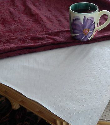 QUILTED FLANNEL BACKED TABLE PAD BY ELRENE- ASSORTED SIZES - BRAND NEW](Branded Tablecloths)