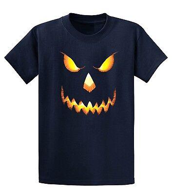 Halloween T-shirt Scary Pumpkin Jack-o-lantern face TEE