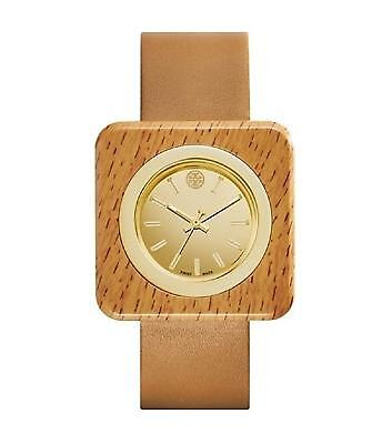 Tory Burch TRB3007 Women's Izzie Brown Leather Strap Gold Dial Gold Dial Watch