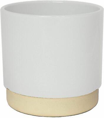 Ivyline Eno Indoor Flower Planter Pot White 11cm