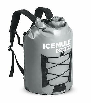 IceMule Pro Large 23L Portable Insulated Waterproof Backpack Cooler Bag - Grey