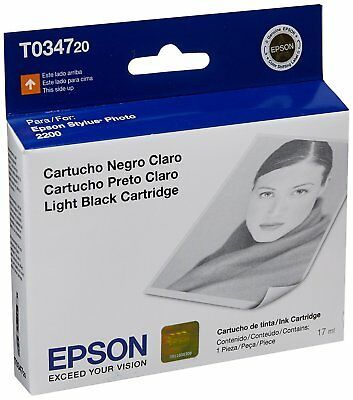 GENUINE Epson 34 T0347 Light Black Ink Cartridge for Stylus Photo 2200 -