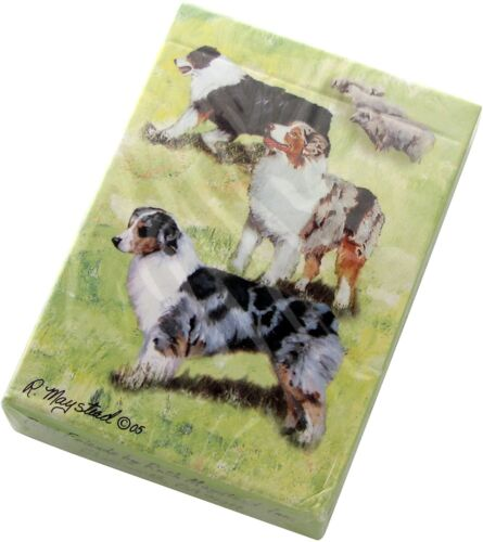 New Australian Shepherd Playing Cards Poker Deck of Card by Ruth Maystead AUS-PC