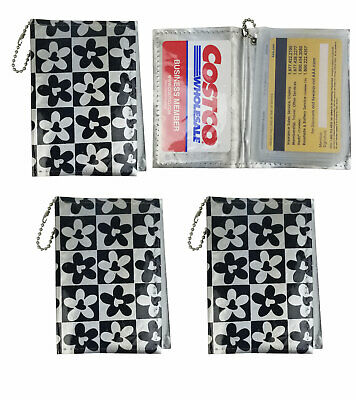4 Plaid Credit Card Holder Organizer Book 6 Inner Pockets 2 Side Compartment