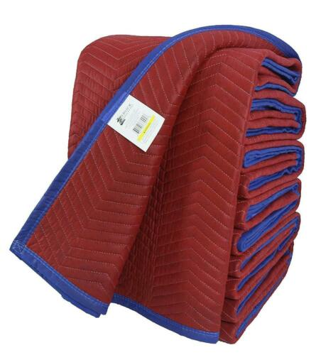 72 X 80 Inches Delux Moving Blankets, 85 Lbs/dozen, Red/Blue, Cheap, Pack of 12