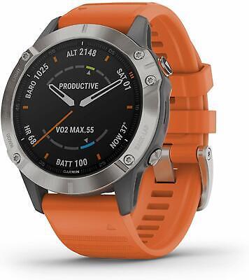 Garmin fenix 6 Sapphire Smartwatch 47mm Fiber-Reinforced Orange **See Details**