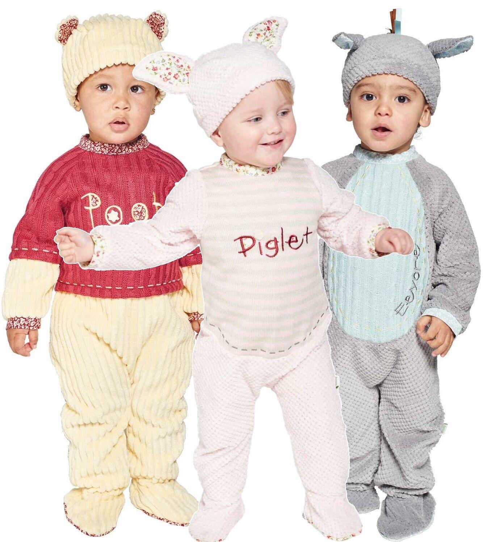 Baby Boys Girls Vintage Disney Eeyore Winnie Piglet Fancy Dress