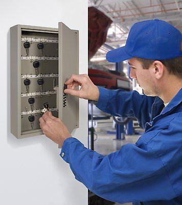 Key Combination Lock Box Cabinet Storage Safe Wall Mount Holder Organizer Rack