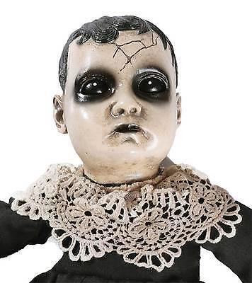 Gothic Creepy Haunted TALKING PRECIOUS BABY DOLL Haunted Horror Prop Decoration](Talking Halloween Decorations)