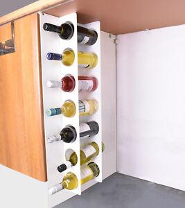 Kitchen Under Cabinet Space Filler Wine Rack 7 Bottle Holder Unit Shelf - White