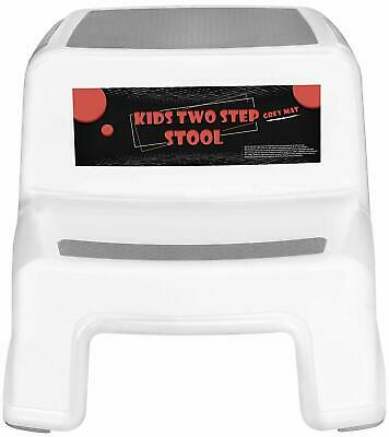 Two-Step Lightweight Plastic Stools for Kids and Toddlers Utopia Home