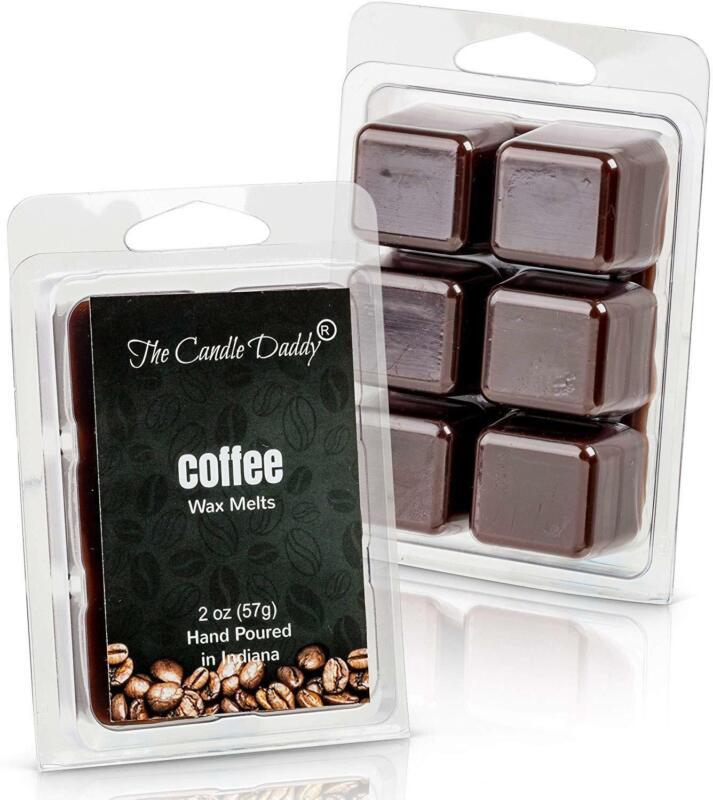 Coffee Scented Melt- Maximum Scent Wax Cubes/Melts- 1 Pack -2 Ounces- 6 Cubes