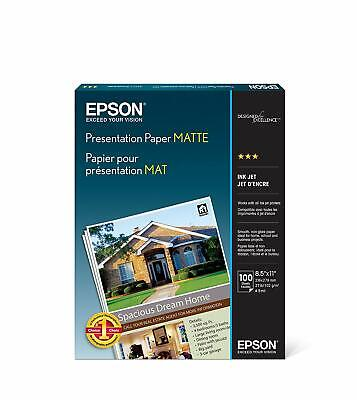 Epson Presentation Photo Paper Matte 100 Sheets Long Lasting Fast Drying Flyer ()
