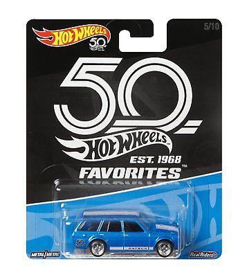 Hot Wheels 50th Anniversary Favorites '71 Datsun Bluebird 510 Wagon 1/64 Scale