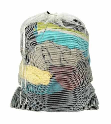 Commercial Mesh Laundry Bag for College or Laundromat | Assorted Colors