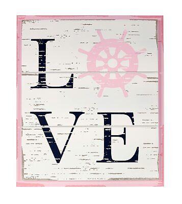 "Nautica Kids Mix & Match ""Love"" Nursery Wall Décor in Pink"