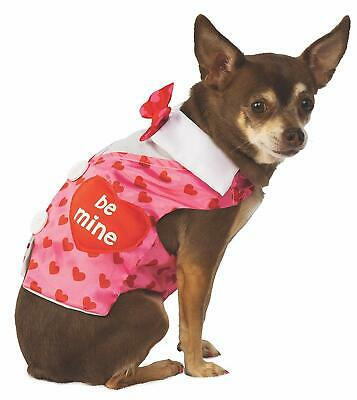 Valentine's Day Sweetheart Vest Holiday Fancy Dress Up Halloween Pet Dog