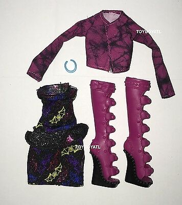 Monster High Iris Clops I Heart Fashion Doll Outfit Clothes Shoes NEW Pink Boots - Monster High Boots
