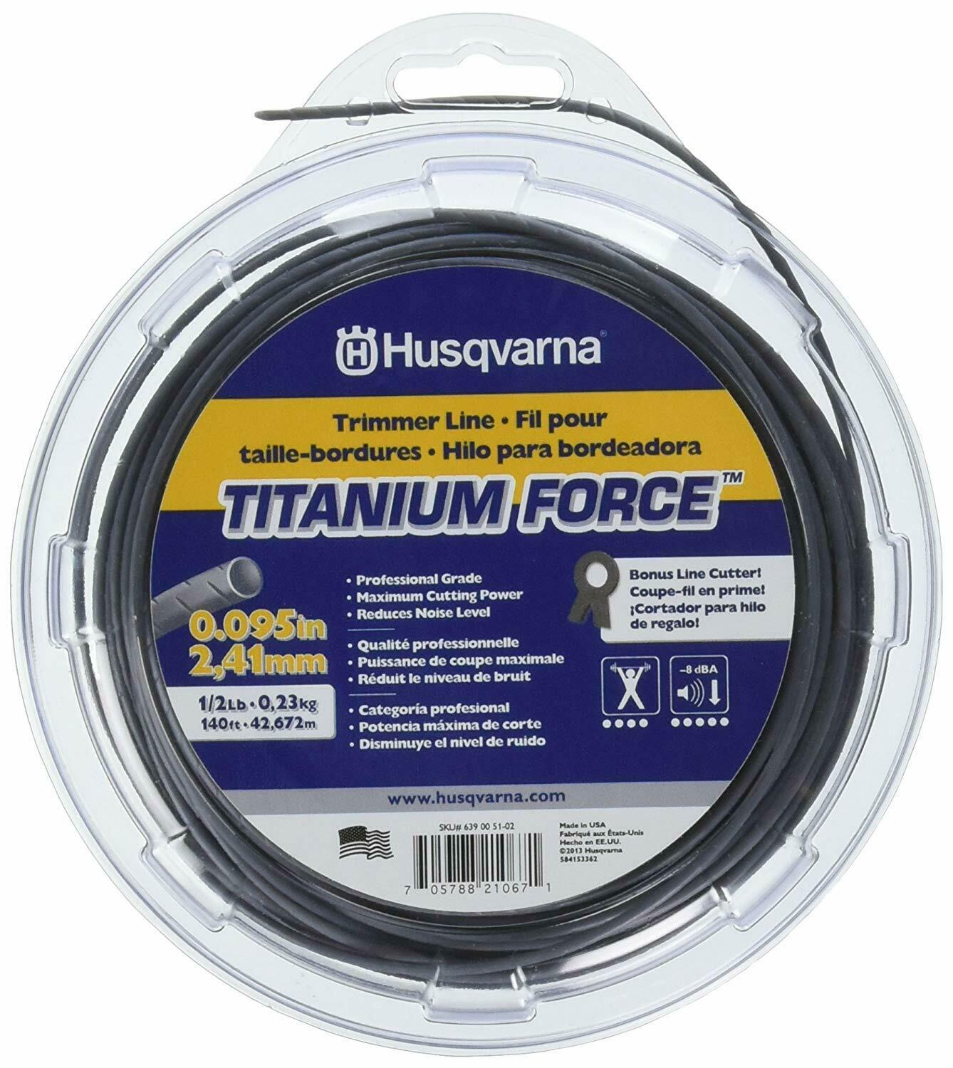 Husqvarna 639005102 Titanium Force Trimmer Line, .095-In. -
