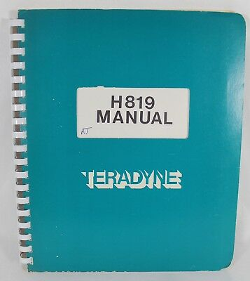 TERADYNE H819 Manual Vintage Technical Electronics Electronic Technical Manual