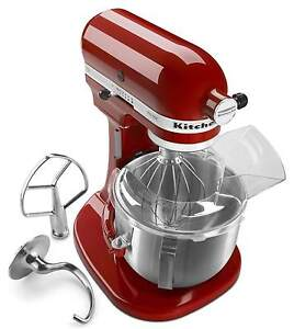 New-Kitchenaid-PRO-500-Stand-Mixer-5-Quart-Lift-Metal-Red-Black-White-KSM500PS