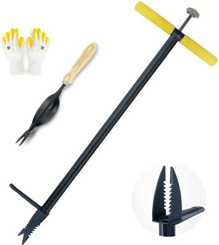 Colwelt Stand Up Weeder and Weed Puller, Stand Up Weed Puller Tool with Foot Ped