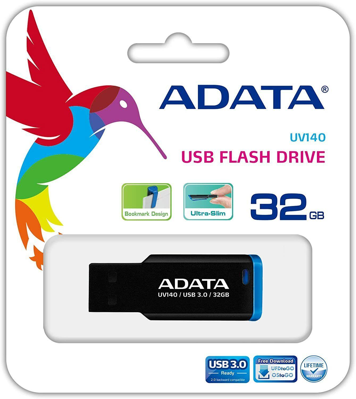 New ADATA 32GB UV140 Blue USB 3.0 Flash Pen Thumb Drive Genu