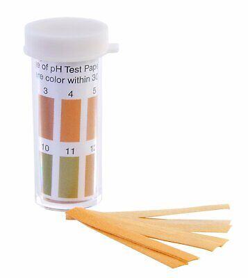 Pack Of 100 Wide Range Ph Test Paper Ph Range 1-14 12mm Length 3mm Width