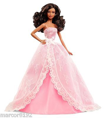 2015 Happy Birthday Wishes A A Nikki Barbie Doll Collector Pink Label New