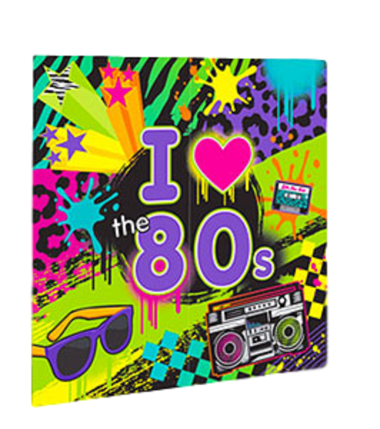 Totally I Love The 80s 1980s Eighties Giant 25ft Themed Party Decoration Banner