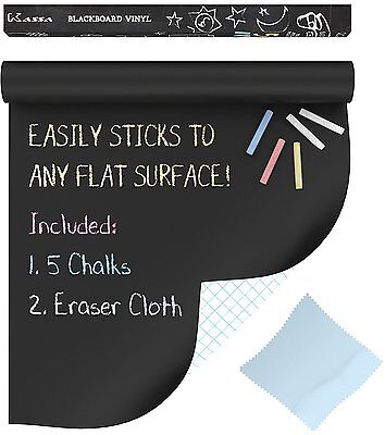 Chalkboard Contact Paper (6.5FT) Large Blackboard Paint Sticker Wall Decal (USA)
