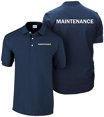 Maintenance Polo Shirt  Employee Polo  Staff Shirt  Hospitality T Shirt  Hotel