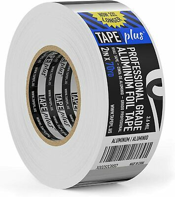 Professional Grade Aluminum Foil Tape - 2 Inch By 210 Feet 70 Yards - Perfect