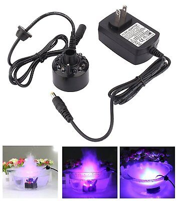 12LED Mist Maker Fogger Atomizer Air Humidifier Water Fountain Pond Fog Machine - Outdoor Fog Machine