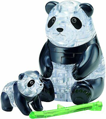 BePuzzled Original 3D Crystal Jigsaw Puzzle - Panda & Baby Animal Assembly