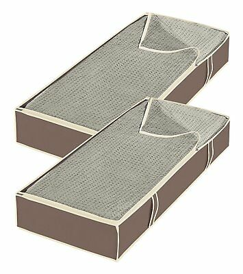 Jumbo Underbed Bags Zippered 2 Set Organizer Box Storage Containers Space Save