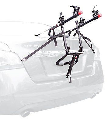 2-Bike Trunk Mounted Bicycle Carrier Rack two haul hauler rear mount BEST