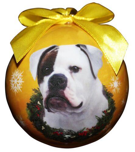 AMERICAN BULLDOG CHRISTMAS BALL ORNAMENT DOG HOLIDAY XMAS PET LOVERS GIFT