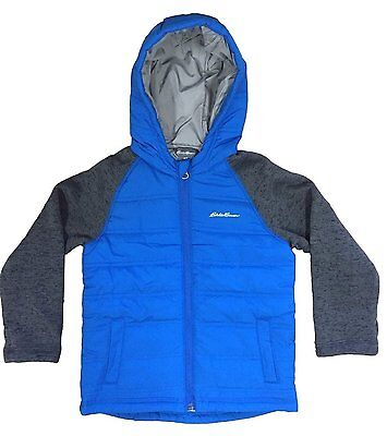Eddie Bauer Toddler Boys Hybrid Jacket Hoodie Coat - Blue - Size 3T