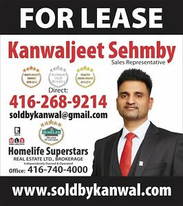 TO RENT CONDO OR A HOUSE IN BRAMPTON OR ETOBICOKE call me now.