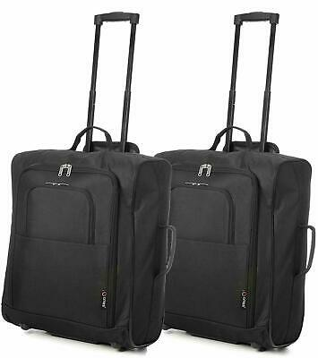 Set of 2 5 Citie Easyjet 56X45X25Cm Cabin Approved Trolley Case Hand Luggage Bag