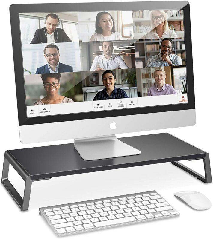 AboveTEK Monitor Stand Riser with Metal Feet for Computer Laptop iMac Desk Bed
