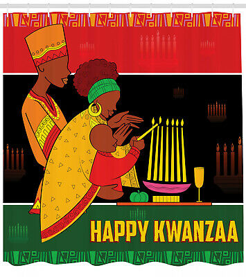 African American Shower Curtain Family Celebration for Bathr