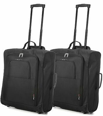 Set/2 5 Cities Easyjet 56X45X25Cm Cabin Approved Trolley Case Hand Luggage Bag