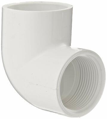 Schedule 40 White Tee Spears 402 Series PVC Pipe Fitting 1-1//2 Socket x 1//2 NPT Female