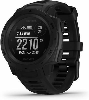 Garmin Watch Instinct Tactical GPS Fitness Location Heart Steps Black #24223
