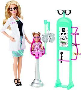 Mattel Barbie - Puppen, Ich wäre gern, Augenärztin Spielset -  CMF42