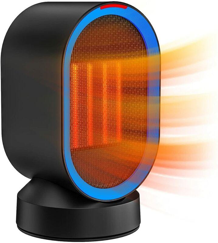 Portable Desktop Ceramic Space Electric Ceramic Heater 600W-Black for Indoor Use