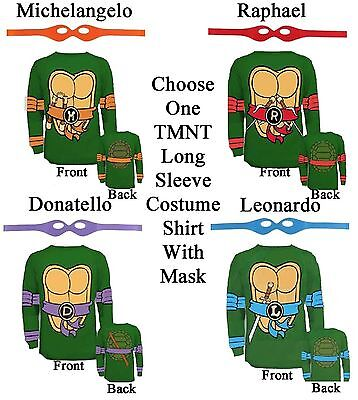 Adult TMNT Teenage Mutant Ninja Turtles Raph Leo Mike Don Costume Long T-Shirt